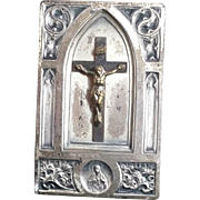 Crucifix Stand with Sacred Heart Medallion