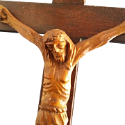 Beautiful Vintage Wooden Standing Crucifix