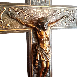 Large Art Nouveau Crucifix
