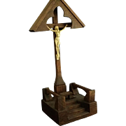 Handcarved Wooden Wayside Crucifix