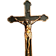 Large Bronze Art Deco Crucifix