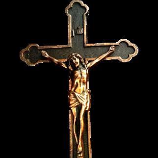 Large Bronze Art Deco Crucifix