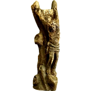 Rustic Hand Carved Tree Branch Crucifix