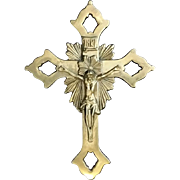 Beautiful Brass Crucifix