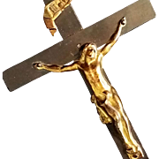 Antique French Crucifix with Memento Mori