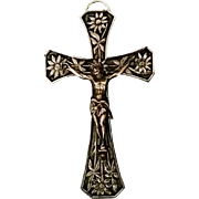 Crucifix with Floral Motif