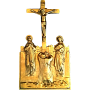Antique Crucifixion Scene