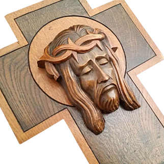 Art Deco Holy Face of Jesus Cross