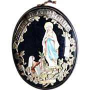French Our Lady of Lourdes Ex-Voto - Red Tag Sale Item