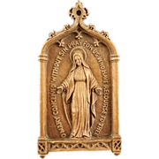 Blessed Virgin Mary Wall Plaque