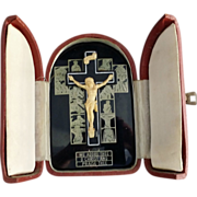 Travel Stations of the Cross with Celluloid Crucifix - Red Tag Sale Item