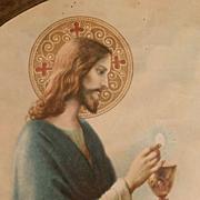 Beautiful Framed 1933 First Communion Keepsake
