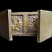 Brass Triptych Travel Shrine / Altar