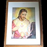 Framed Sacred Heart Print