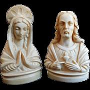 Christ and Madonna Sculpture Set