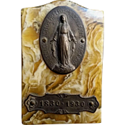 French Bakelite Miraculous Medal Plaque