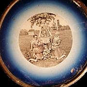 Victorian Notre Dame de Montaigue Wall Plate