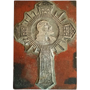 Unique Printer's Block with Image of Christ