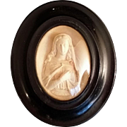 Rare True Meerschaum Carving of the Madonna - Red Tag Sale Item