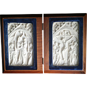 Diptych with the Virgin and Child and Crucifixion