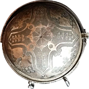 Victorian Meriden Silverplate Dish with Elaborate Cross