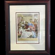 Framed Bible Print circa 1850