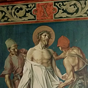 "Antique Tenth Station of the Cross: ""Jesus is Stripped of His Garments"""