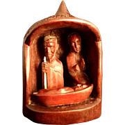 African Handmade Wood Nativity