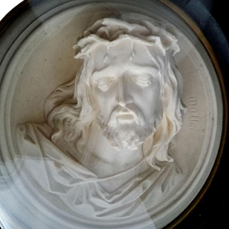 19th Century French Sculpture of Christ signed Mattei