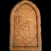 Vintage Our Lady of Salette Plaque