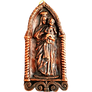 Wax Madonna & Child Wall Art