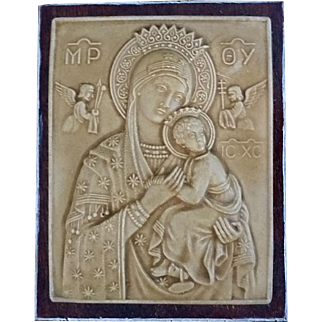 Our Lady of Perpetual Help Plaque from Jerusalem