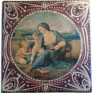 Hand Painted Madonna & Child Plaque