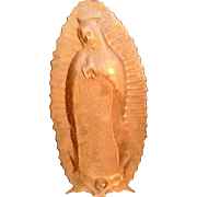 Embossed Copper Our Lady of Guadalupe - Red Tag Sale Item