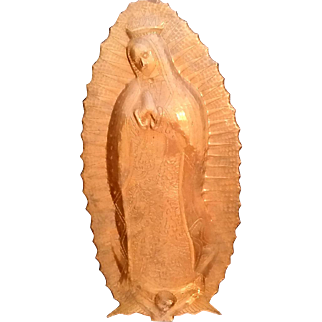 Embossed Copper Our Lady of Guadalupe