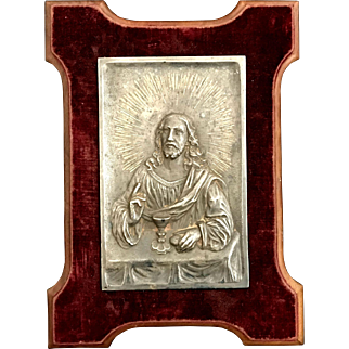 Christ Offering the Eucharist Plaque
