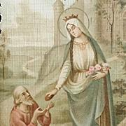 Saint Elizabeth of Hungary Holy Card Patron Saint of Widows & Young Brides