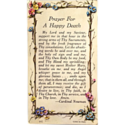 """Prayer for Happy Death"" Holy Card"