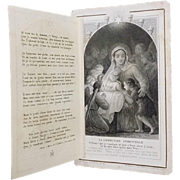 "Antique French ""Chants de Noel"" Holy Card"