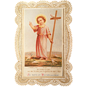 """All By the Cross"" Prayer Lace Holy Card"