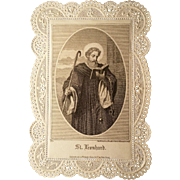 St. Leonhard Lace Holy Card: Patron of Prisoners