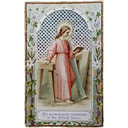 Consecration to Jesus Antique Holy Card
