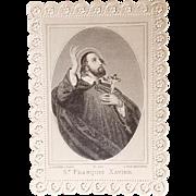Saint Francis Xavier Holy Card