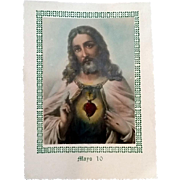 Spanish Sacred Heart Mother's Day Card, May 10