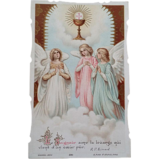 1919 French First Communion Holy Card