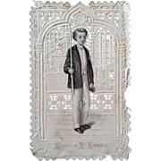 First Communion Lace Prayer Card