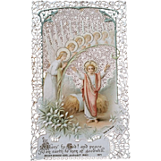 """Glory to God!"" Lace Holy Card"