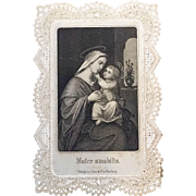 """Mater Amabilis"" Lace Holy Card"