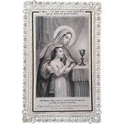 Counsels of Mary First Communion Prayer Card
