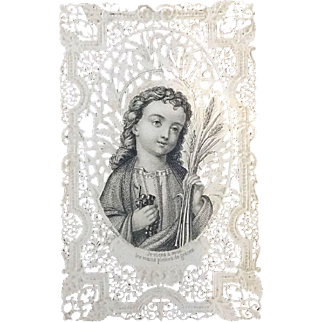 Fantastic Lace Canivet Holy Card